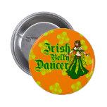 Bailarina de la danza del vientre irlandesa pins