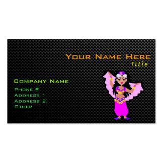 Bailarina de la danza del vientre lisa tarjetas de visita