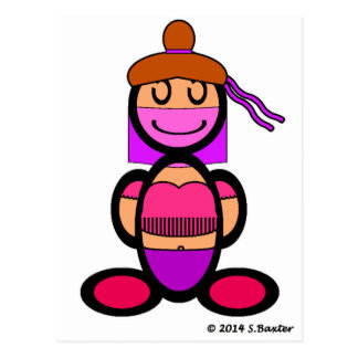 Bailarina de la danza del vientre (llana) tarjeta postal