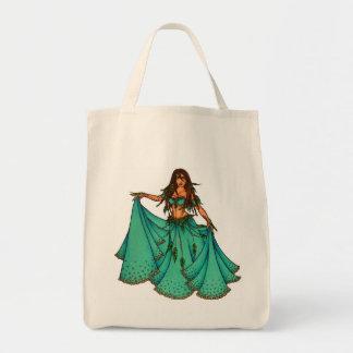 Bailarina de la danza del vientre medio-oriental d bolsa de mano