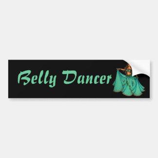 Bailarina de la danza del vientre medio-oriental d pegatina de parachoque