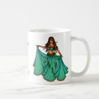 Bailarina de la danza del vientre medio-oriental d taza