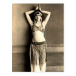 Bailarina de la danza del vientre postales