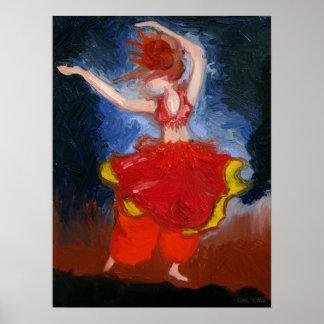 Bailarina de la danza del vientre póster