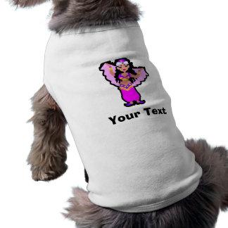 Bailarina de la danza del vientre camisa de perrito