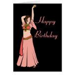 Bailarina de la danza del vientre rosada de Kim Felicitacion