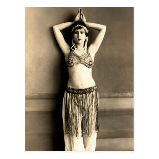 Bailarina de la danza del vientre tarjeta postal
