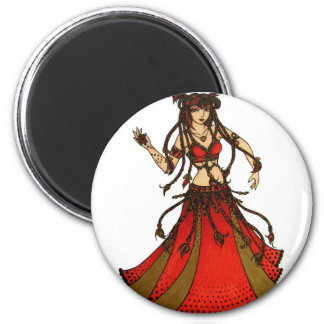 Bailarina de la danza del vientre tribal de Alliec Imán Redondo 5 Cm