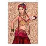Bailarina de la danza del vientre tribal de Salesk Tarjeta De Felicitación