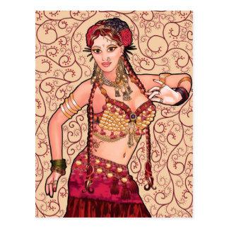Bailarina de la danza del vientre tribal de Salesk Tarjetas Postales