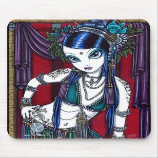 Bailarina de la danza del vientre tribal Mousepad  Tapetes De Ratones