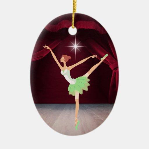 Bailarina de la danza - SRF Adorno Navideño Ovalado De Cerámica