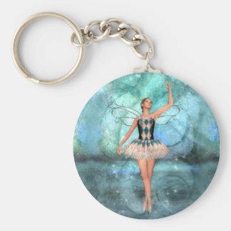Bailarina de la hada de la tolerancia llaveros personalizados
