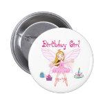 Bailarina de la hada del chica del cumpleaños pin