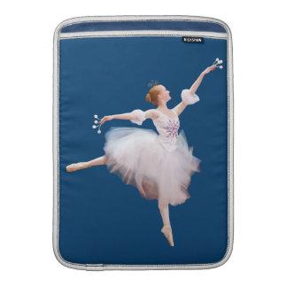 Bailarina de la reina de la nieve fundas para macbook air