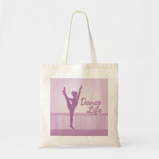 Bailarina de la vida de la danza - púrpura - bolsa de mano