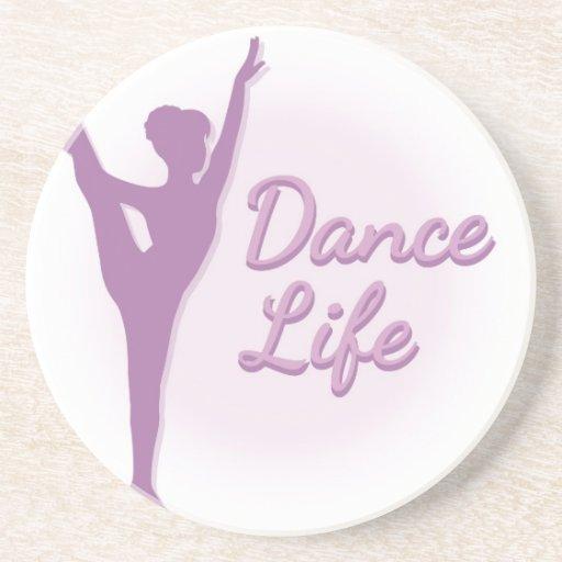 Bailarina de la vida de la danza - púrpura - posavaso para bebida