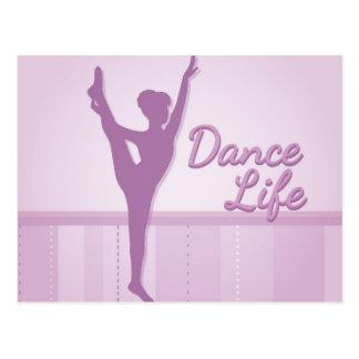 Bailarina de la vida de la danza - púrpura - tarjeta postal