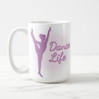 Bailarina de la vida de la danza - púrpura - taza