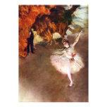 Bailarina de Prima de Edgar Degas, arte del ballet Invitación Personalizada