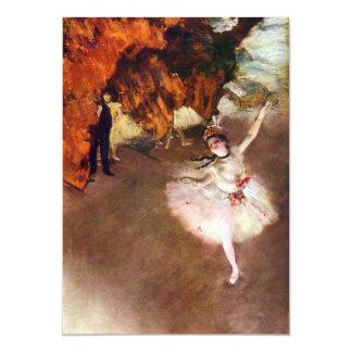 Bailarina de Prima de Edgar Degas, arte del ballet Invitación 12,7 X 17,8 Cm