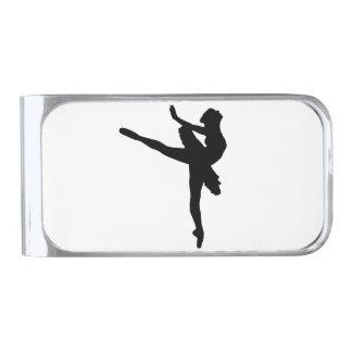 ¡BAILARINA DE PRIMA! (~ del bailarín de ballet) Clip Para Billetes Plateado