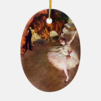 Bailarina de Prima, Rosita Mauri de Edgar Degas Adorno Navideño Ovalado De Cerámica