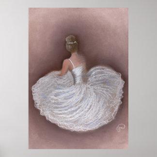 Bailarina de Rosa Posters
