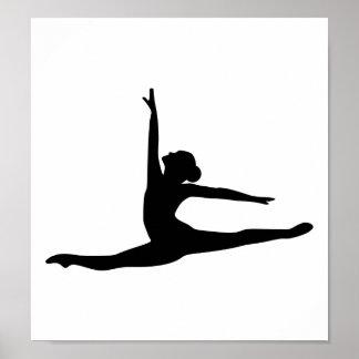 Bailarina del bailarín de ballet impresiones