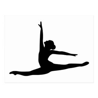 Bailarina del bailarín de ballet tarjeta postal