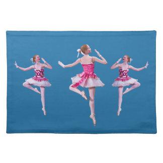 Bailarina del baile, personalizable, Placemat Mantel