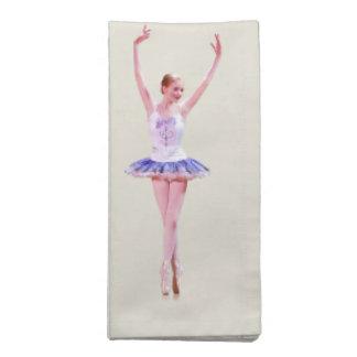 Bailarina del baile, personalizable, servilleta