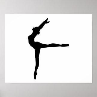 Bailarina del ballet póster