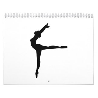 Bailarina del ballet calendario de pared