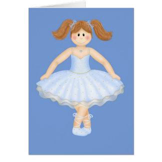Bailarina del cumpleaños tarjeton