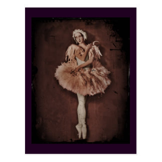 Bailarina del lago swan postal