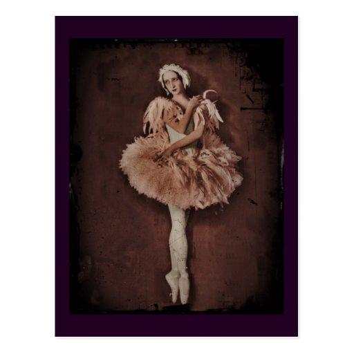 Bailarina del lago swan tarjeta postal