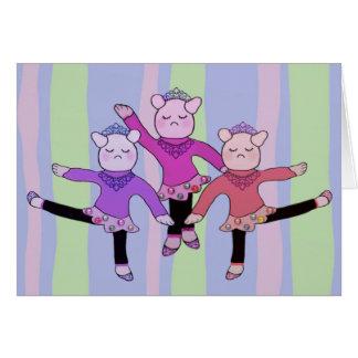 Bailarina del meneo de Piggly Tarjeta Pequeña