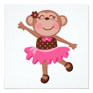 Bailarina del mono invitaciones personales