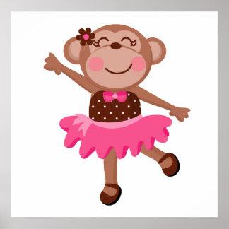 Bailarina del mono posters
