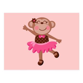 Bailarina del mono postales