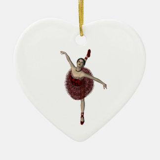 Bailarina del navidad ornamento para arbol de navidad