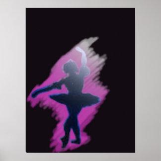 Bailarina del proyector póster
