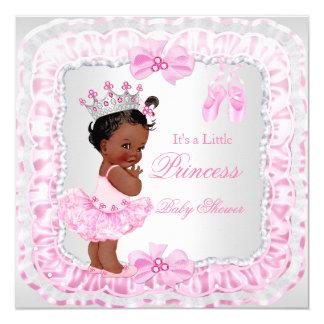 """Bailarina del rosa del chica de la princesa fiesta invitación 5.25"""" x 5.25"""""""