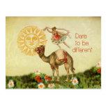 Bailarina del vintage, flores, y collage del camel