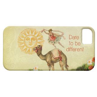 Bailarina del vintage flores y collage del camel iPhone 5 Case-Mate coberturas