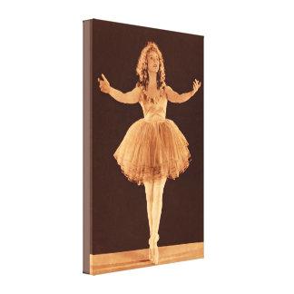 Bailarina del vintage impresión de lienzo