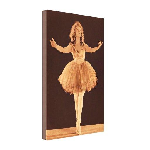 Bailarina del vintage lona envuelta para galerias