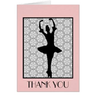 Bailarina - el aprecio del profesor le agradece tarjeta pequeña