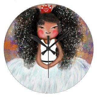 Bailarina en blanco - reloj grande redondo